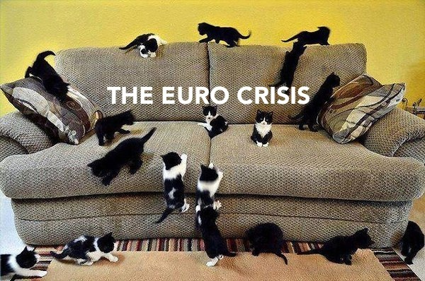 International Relations as Depicted by Cats euro crisis