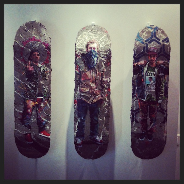 arnaud-liard-x-wall-project triptyque skateboard
