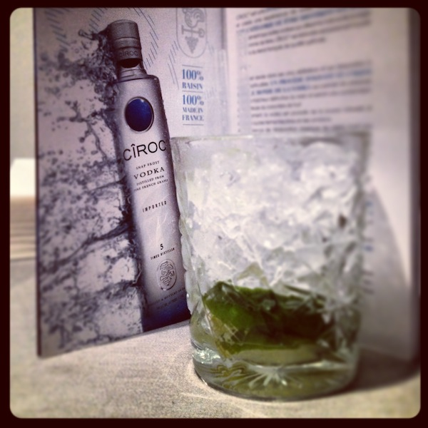 ciroc-french-vodka-snap-frost cocktail capiroska